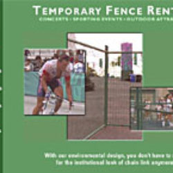 temporary fence rentals: web + print