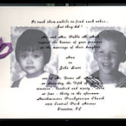 acob, john and ann: wedding invitation