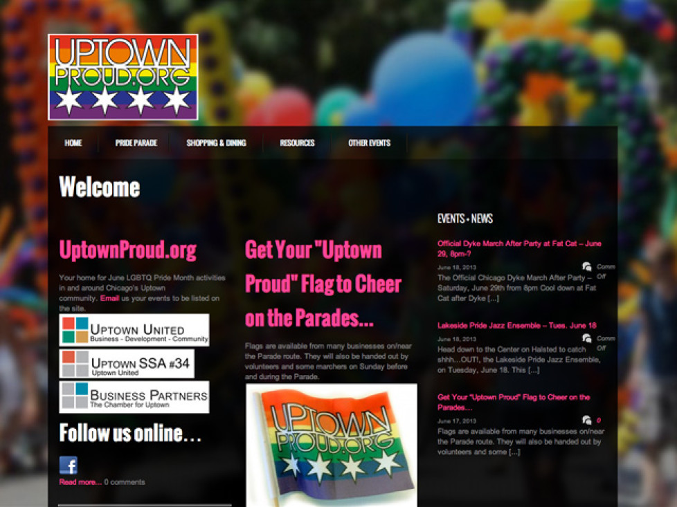 UptownProud.org v2.0 LAUNCH