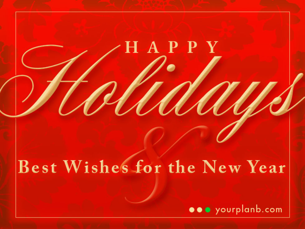 Happy Holidays from YourPlanB.com
