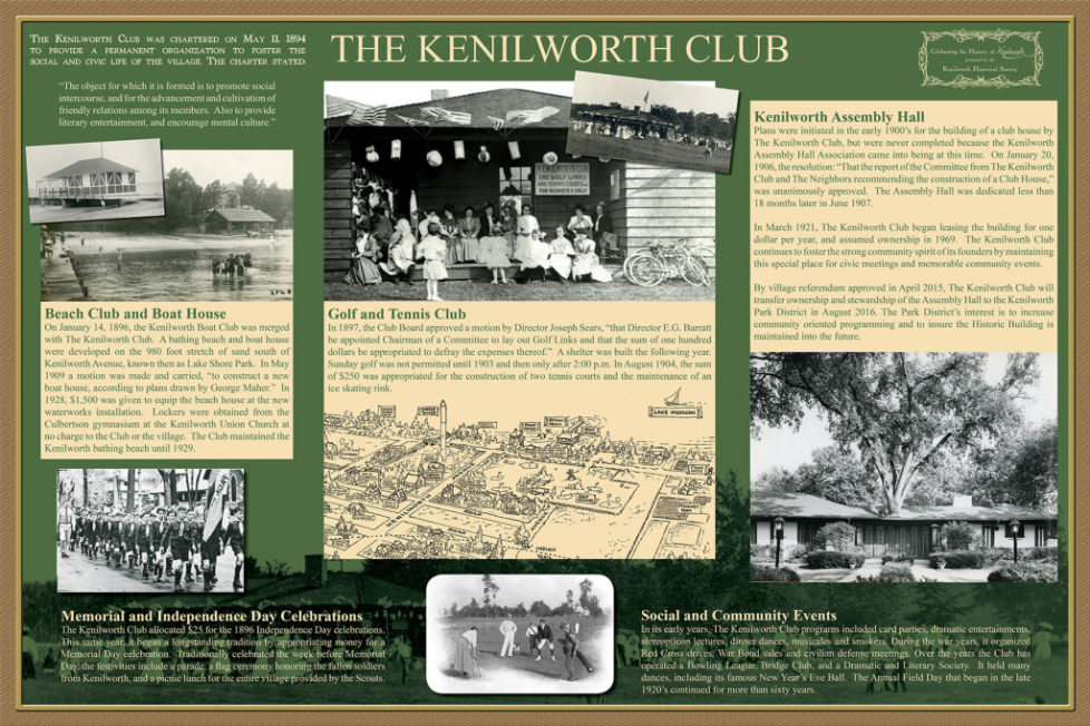 """""""History of Kenilworth"""" ongoing exhibit"""