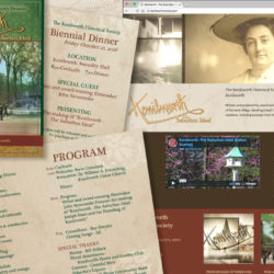 KHS Biennial Dinner invitations and NEW! WordPress website